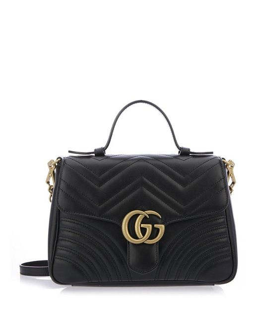 Gucci GG Small Marmont 2.0 Shoulder Bag in Black - Lyst 885f75801d243