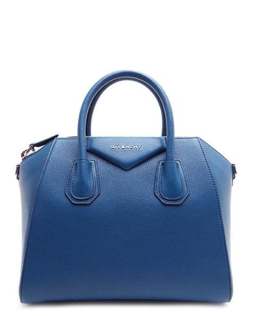 ... promo code abff9 4c56b Givenchy - Blue Small Antigona Leather Tote Bag  - Lyst ... 8b17394cc8