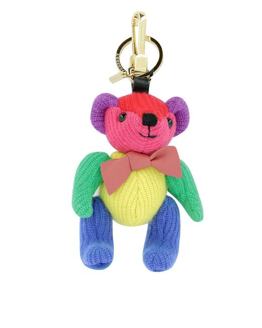Burberry - Multicolor Cashmere Bear Keychain - Lyst