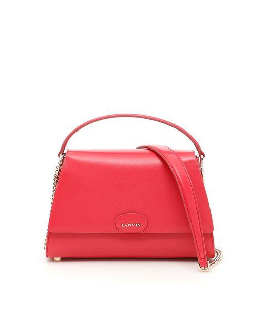 Lanvin - Red Mini Trapeze Tote Bag - Lyst