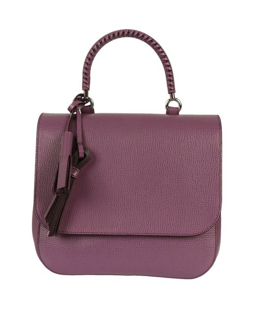 Max Mara - Purple Flap Cover Satchel Bag - Lyst