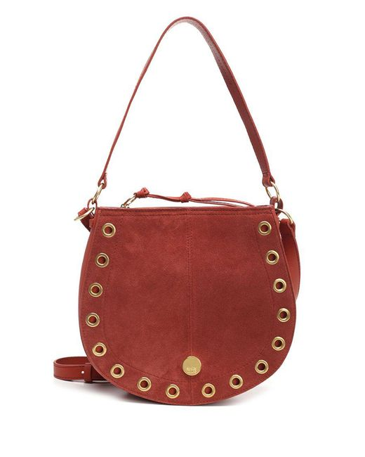 See By Chloé - Red See By Chloé Saddle Shoulder Bag - Lyst
