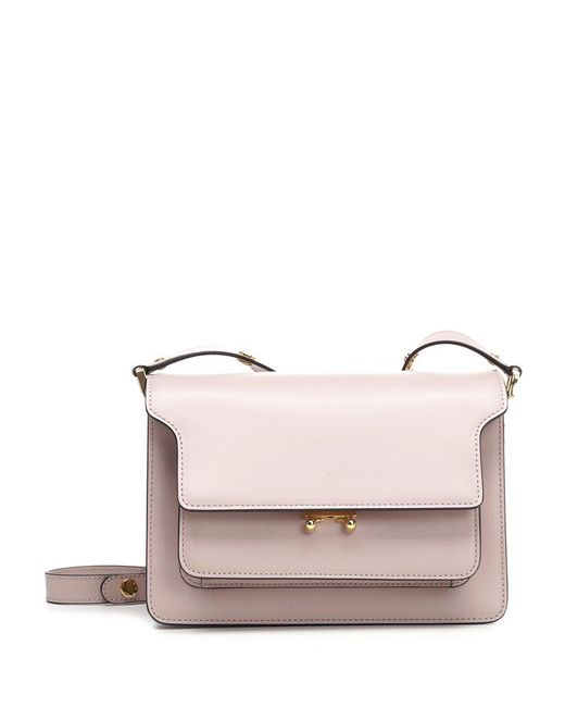 Marni - Pink Trunk Leather Shoulder Bag - Lyst