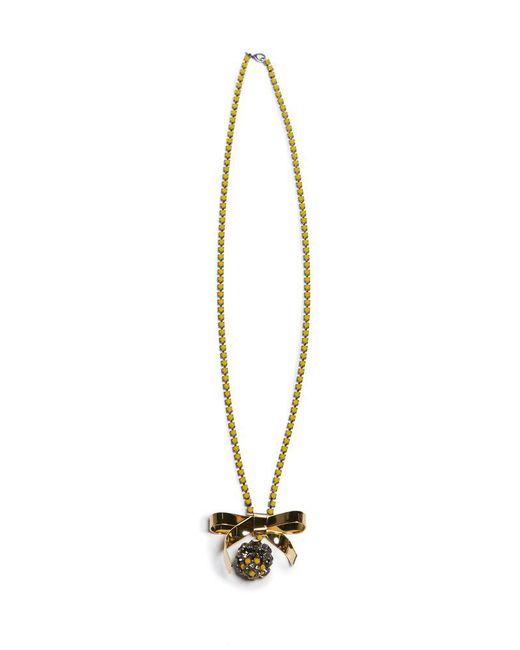 Marni - Metallic Bow Necklace - Lyst