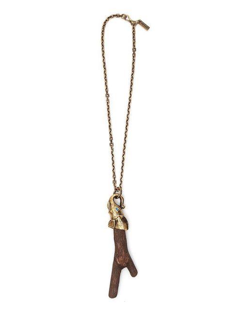 Prada - Metallic Elephant Necklace - Lyst