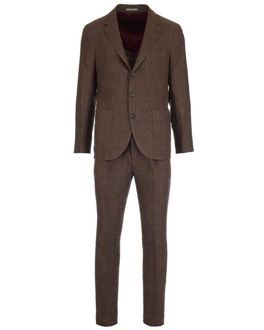 Brunello Cucinelli - Brown Linen Suit for Men - Lyst