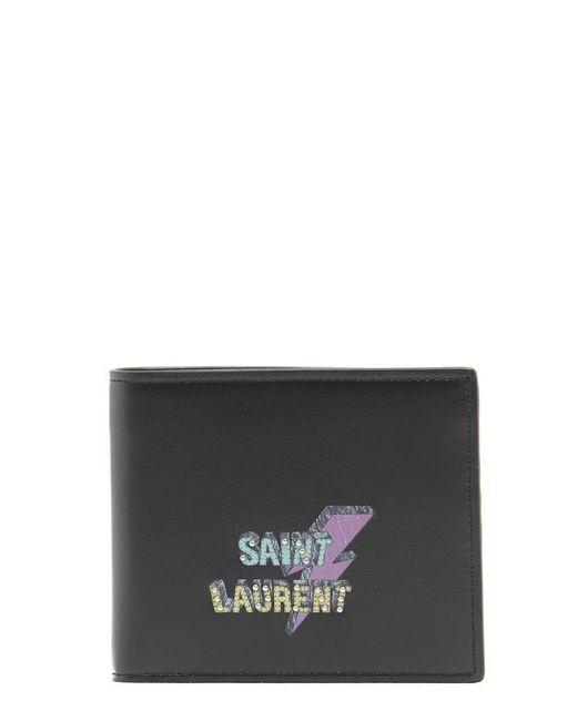 Saint Laurent - Black Eclair Wallet for Men - Lyst