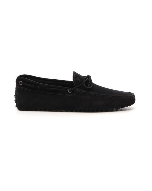 35d68bddb4e Lyst - Tod s Suede Gommino Driving Shoes in Black for Men - Save 16%