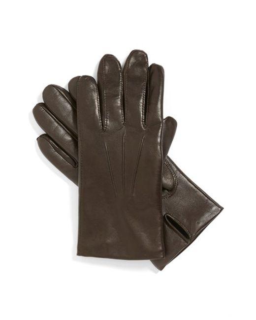 John W. Nordstrom   Brown John W. Nordstrom Leather Tech Gloves for Men   Lyst