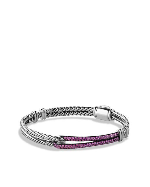 David Yurman | Petite Pavé Labyrinth Single-loop Bracelet With Pink Sapphires | Lyst