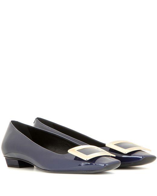 Roger Vivier | Blue Belle Vivier Patent Leather Ballerinas | Lyst