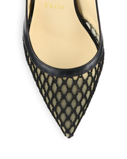 louboutin loafer - Christian louboutin Guni Patent-trim Spiked Mesh Pumps in Black | Lyst