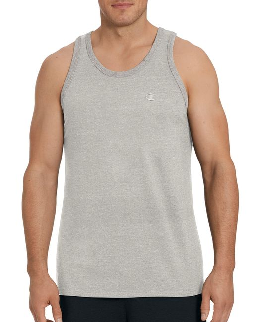 aaf0dad39abea Lyst - Champion Classic Cotton Ringer Tank in Gray for Men