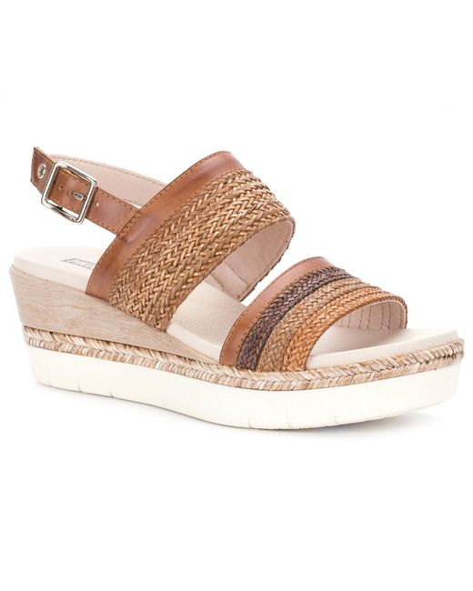 Pikolinos | Multicolor Mila Womens Wedge Heel Sandals | Lyst