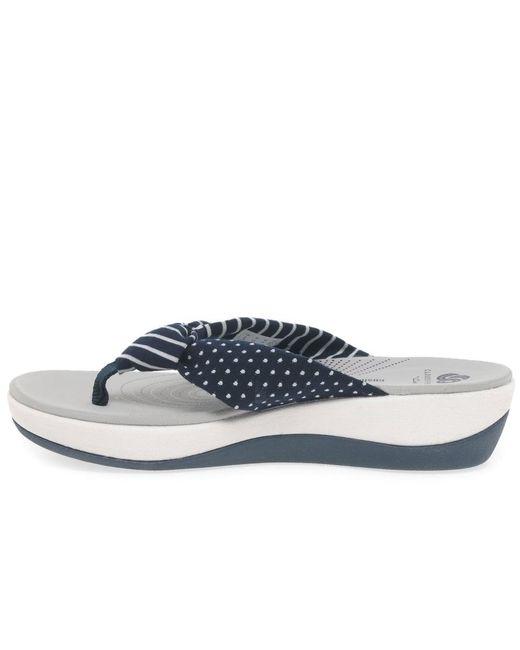 e68630e120a5 Clarks Arla Glison Womens Toe Post Sandals in Blue - Save 9% - Lyst