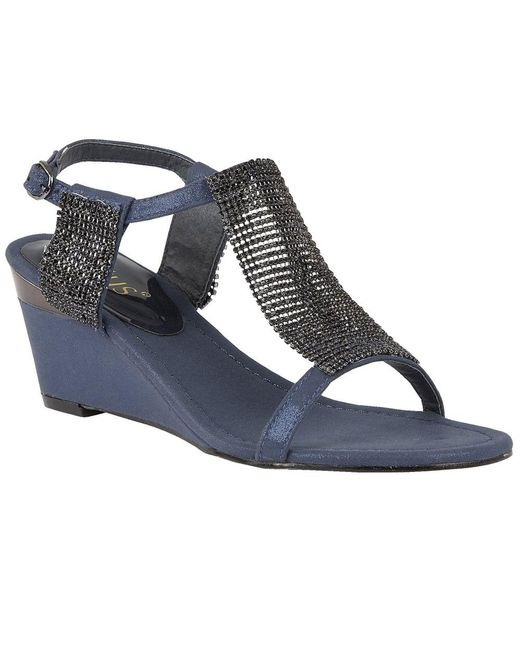 Lotus - Blue Klaudia Womens Wedge Heel Sandals - Lyst
