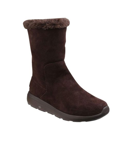 Skechers - Brown On The Go City 2 Womens Pull On Boots - Lyst