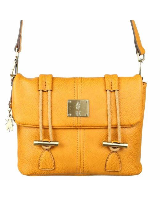 54497101bf Fly London Dipi Womens Satchel Bag in Yellow - Save 1% - Lyst