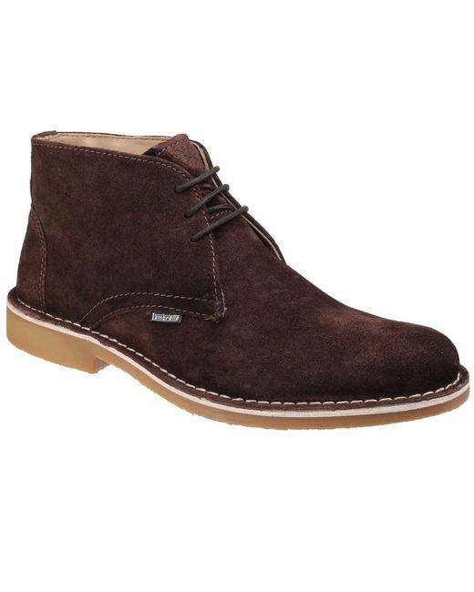 Lambretta - Brown Carnaby 2 Mens Suede Desert Boots for Men - Lyst