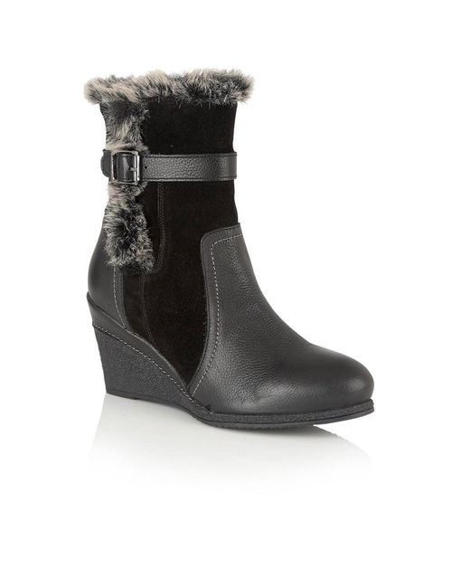 Lotus - Black Varda Womens Casual Ankle Boots - Lyst