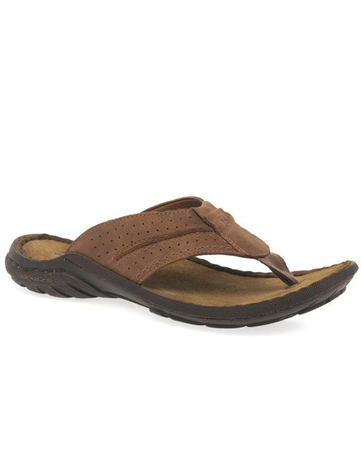 Josef Seibel - Logan 25 Toe Post Mens Sandals Men's Flip Flops / Sandals (shoes) In Brown for Men - Lyst