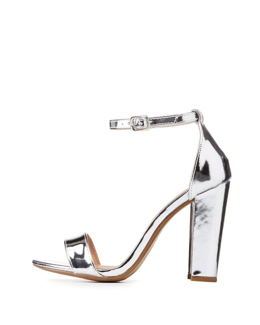 Charlotte Russe - Metallic Ankle Strap Sandals - Lyst