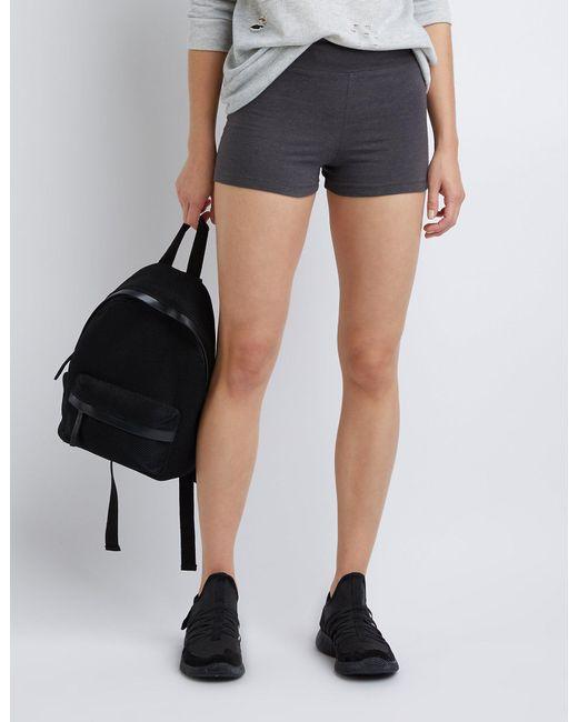 Charlotte Russe - Gray High-rise Bike Shorts - Lyst