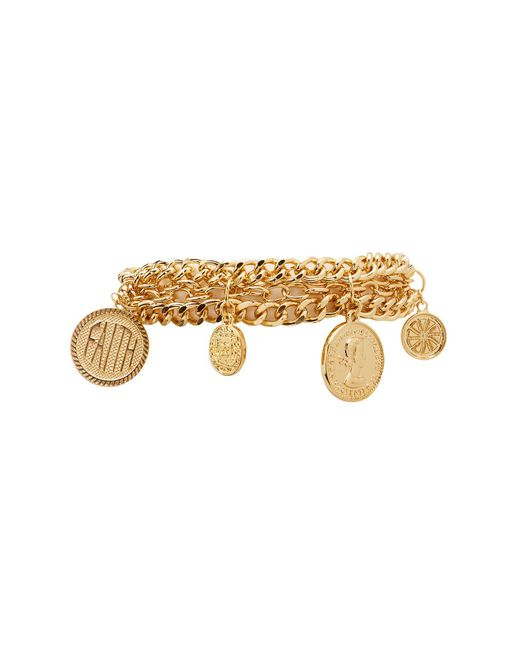 Charlotte Russe - Metallic Coin Charm Bracelet - Lyst