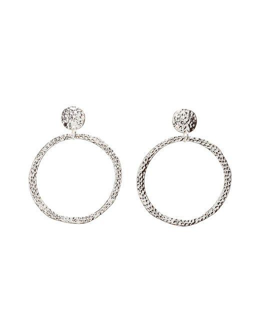 Charlotte Russe - Metallic Hammered Hoop Earrings - Lyst