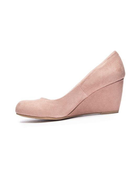 7dbe711f58 ... Chinese Laundry - Pink Nima Wedge Pump - Lyst ...