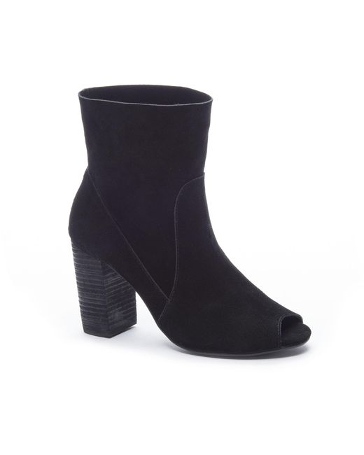Chinese Laundry - Black Tom Girl Peep Toe Bootie - Lyst