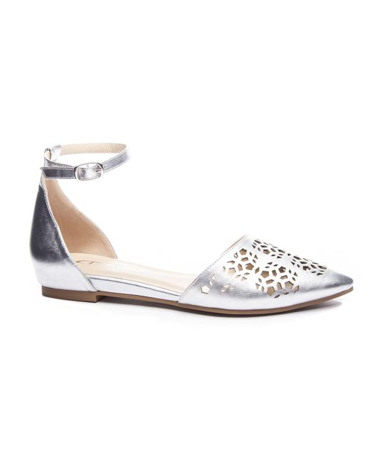 Chinese Laundry - Metallic Hello D'orsay Flat - Lyst