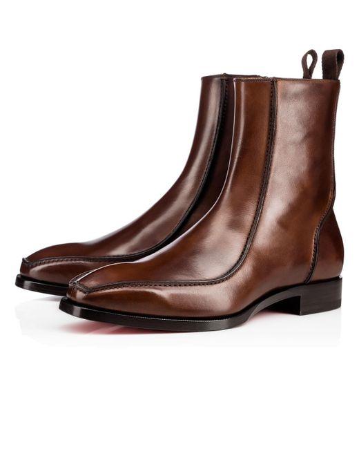 Christian Louboutin | Brown Cyprien Boot | Lyst