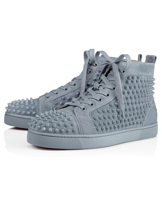 Christian Louboutin - Blue Louis Spikes Men's Flat for Men - Lyst