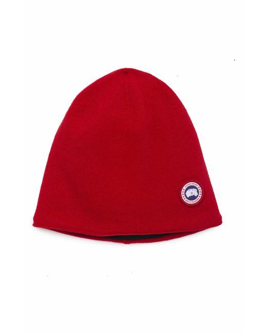 d544ee20856 Men's Red Logo Beanie Hat