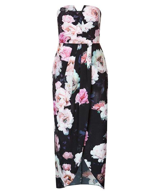 City Chic - Black Wonderland Maxi Dress - Lyst