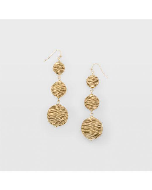 Club Monaco | Metallic Bauble Gold-tone Earring | Lyst