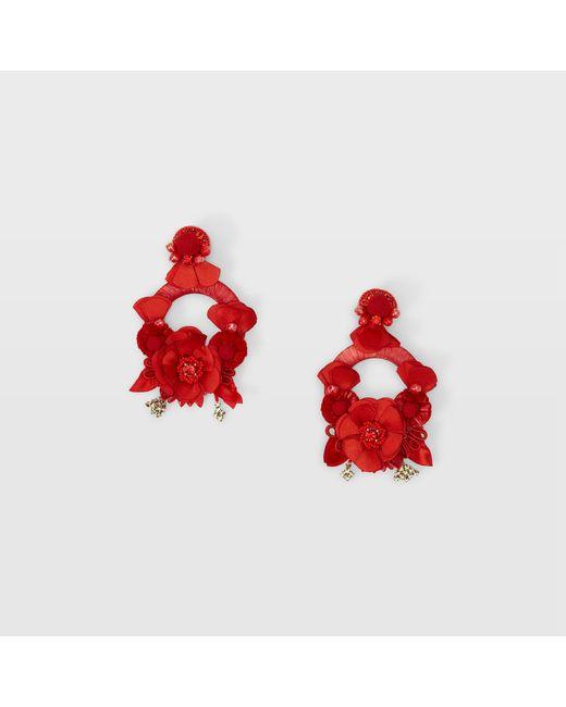 Club Monaco - Red Ranjana Khan Hoop Earring - Lyst