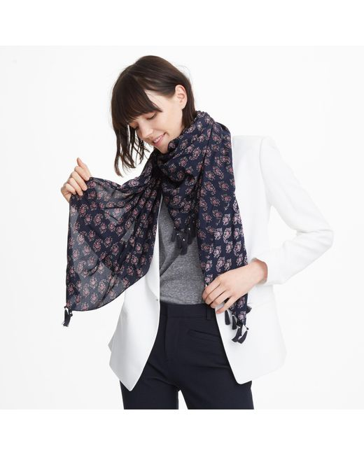 Club Monaco - Blue Thora Scarf - Lyst