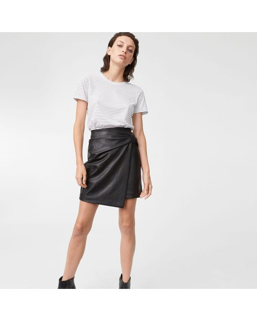 Club Monaco | Black Chavelle Faux Leather Skirt | Lyst