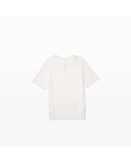 Club Monaco | White Short-sleeve Linen Henley for Men | Lyst