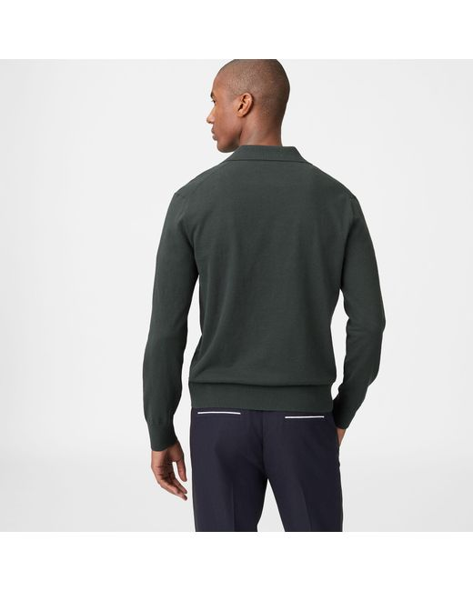 Club Green Men Sweater Lyst Johnny Collar In Monaco For SOAq6