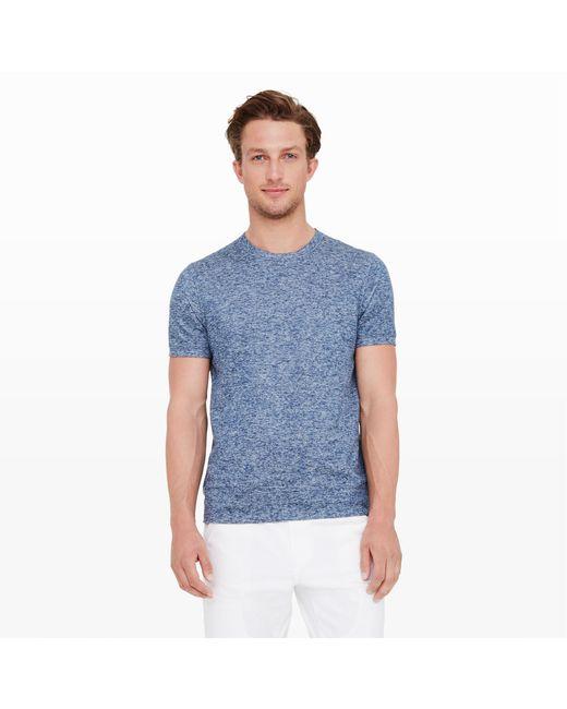 Club Monaco | Blue Linen Sweatshirt Tee for Men | Lyst