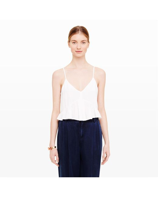 Club Monaco | White Kendyl Crop Top | Lyst