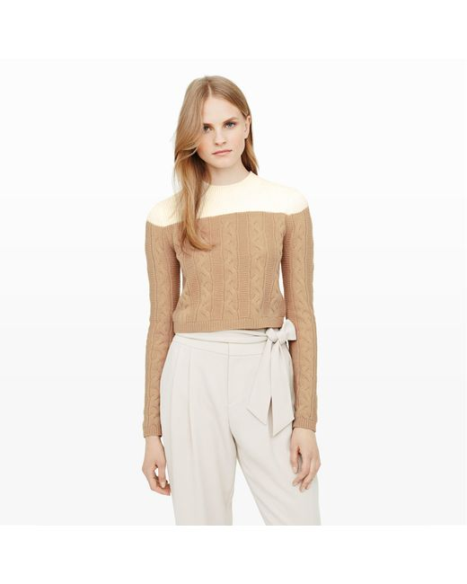 Club Monaco | Natural Alexios Cable-knit Sweater | Lyst