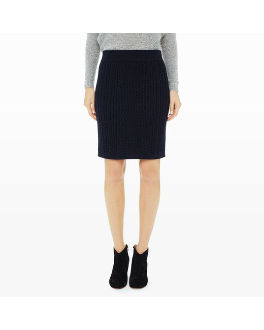 Club Monaco   Blue Sillette Cable Sweater Skirt   Lyst