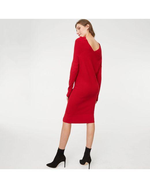 Club Monaco - Red Rubard Sweater Dress - Lyst