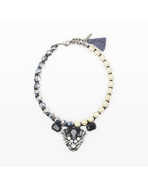 Rada' | Black Glass Pearl Necklace | Lyst