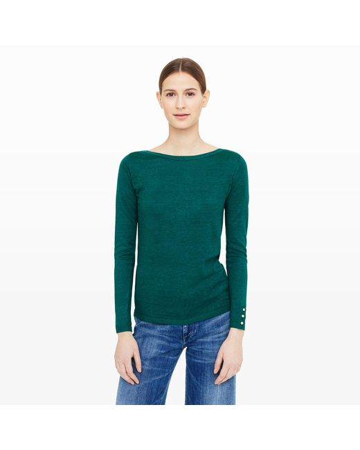 Club Monaco | Pink Lana Button Sweater | Lyst