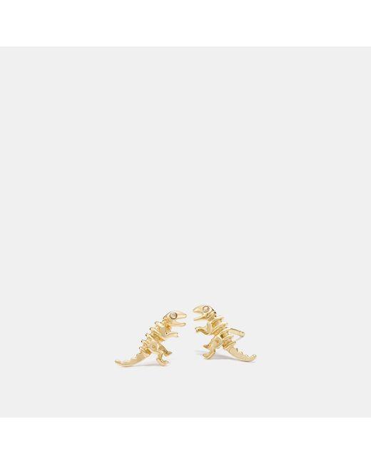 COACH - Metallic Mini 18k Gold Plated Rexy Stud Earrings - Lyst